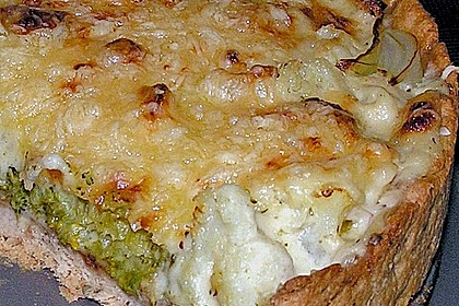 Blumenkohl - Brokkoli - Tarte