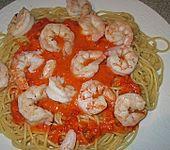Italienische Pasta mit Krabbensauce