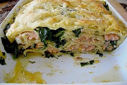 Spinat - Lachs - Lasagne 2