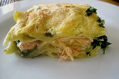 Spinat - Lachs - Lasagne 0