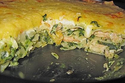 Spinat - Lachs - Lasagne 4