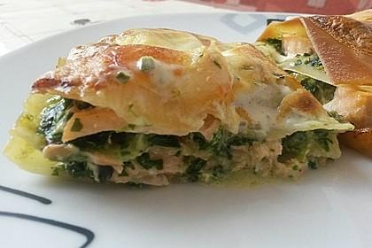 Spinat - Lachs - Lasagne 1