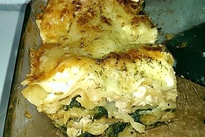 Spinat - Lachs - Lasagne 5