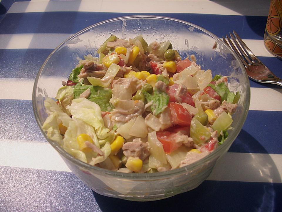 Rezept gemischter salat mit thunfisch