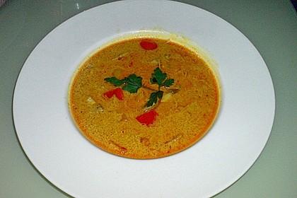 Kokos - Orangen - Ingwersuppe mit Huhn 1