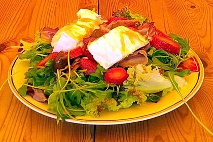 salat mit rucola speck ziegenk se erdbeeren feigen und honig rezept mit bild. Black Bedroom Furniture Sets. Home Design Ideas