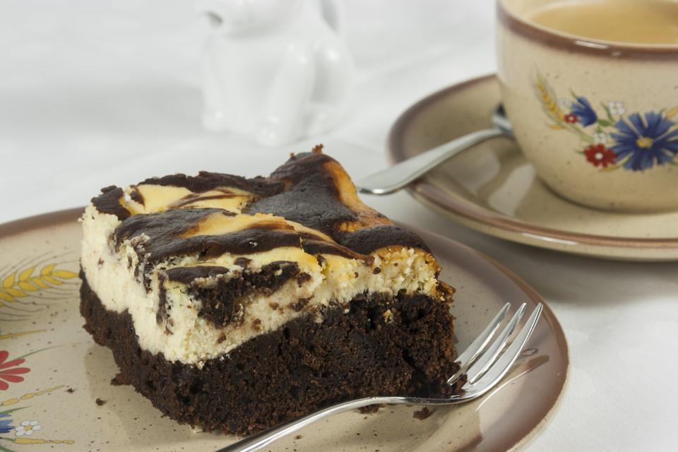 Brownie kuchen frischkase