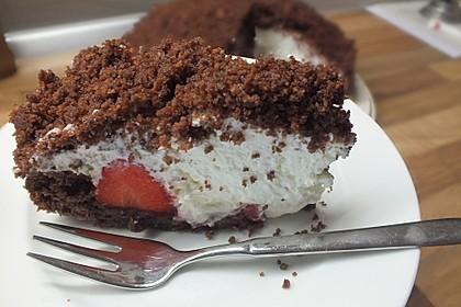 Maulwurfkuchen mit Erdbeeren 9