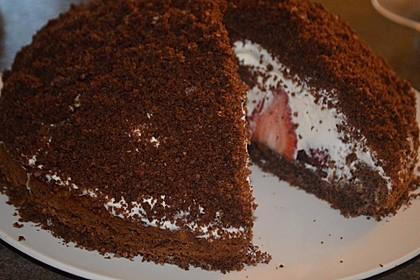 Maulwurfkuchen mit Erdbeeren 6