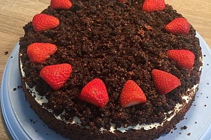Maulwurfkuchen mit Erdbeeren 5