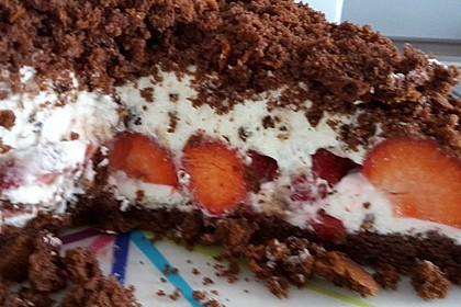 Maulwurfkuchen mit Erdbeeren 10