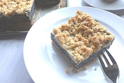 Schneller Mohnkuchen mit Streuseln