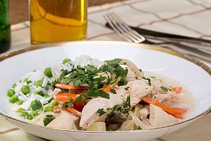 Hühnerfrikassee - Ragout aus Hühnchen, Spargel und Pilzen 2