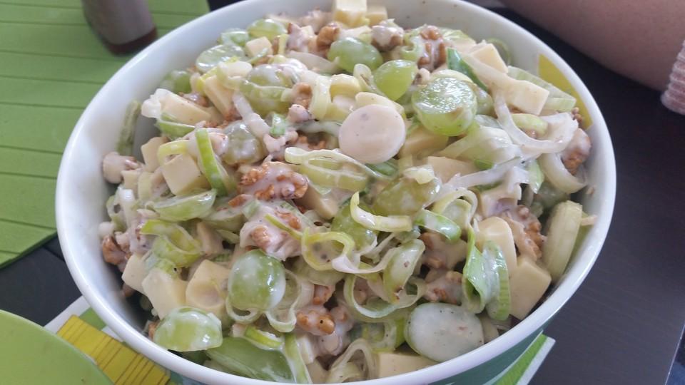 Rezept salat weintrauben kase