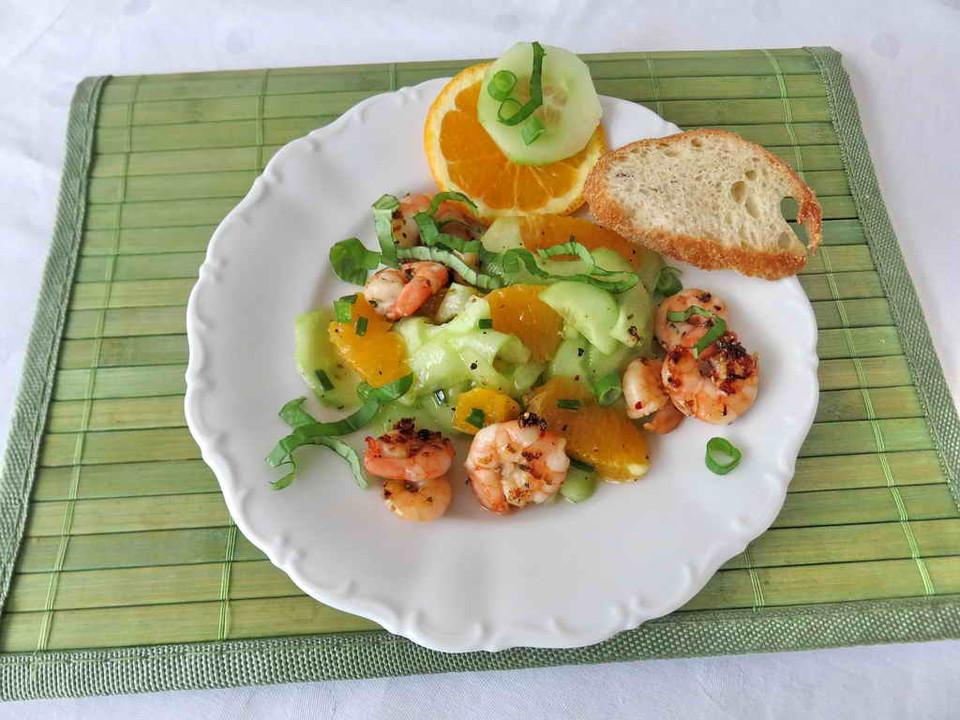 fr chte rezepte mit garnelen orange salat. Black Bedroom Furniture Sets. Home Design Ideas