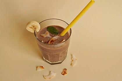 kaffee smoothie mit banane und kokosmilch rezept mit bild. Black Bedroom Furniture Sets. Home Design Ideas