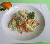 Spargelrisotto mit Gorgonzola und Nektarinen