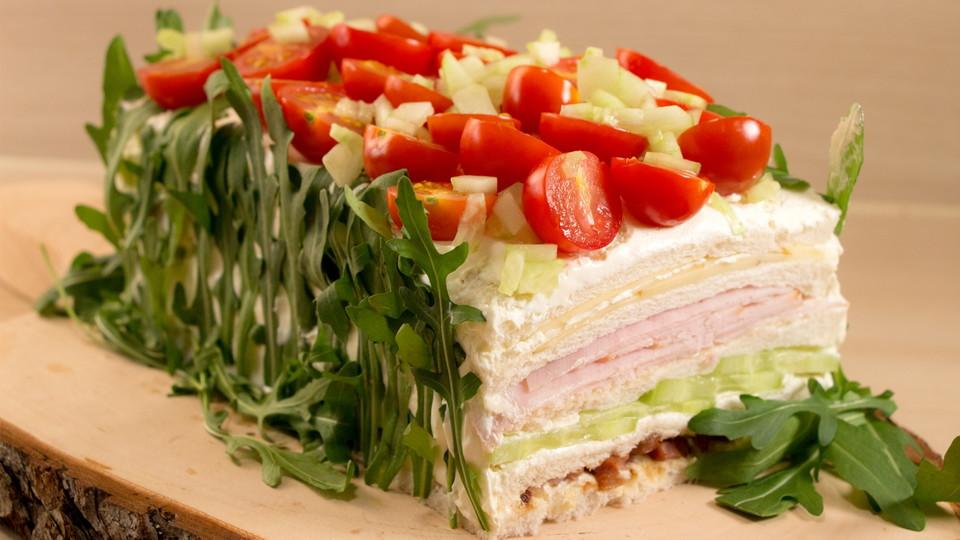 Pikante sandwich torte