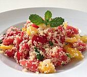 Fruchtiger Couscous-Melonen-Salat