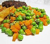 Erbsen-Möhrchen-Gemüse mit Kapern und Ingwer