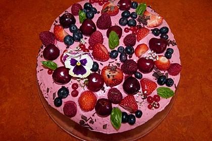 Himbeer-Erdbeer-Torte 2