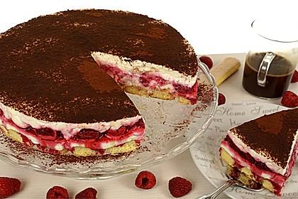 Himbeer-Tiramisu-Torte, No Bake