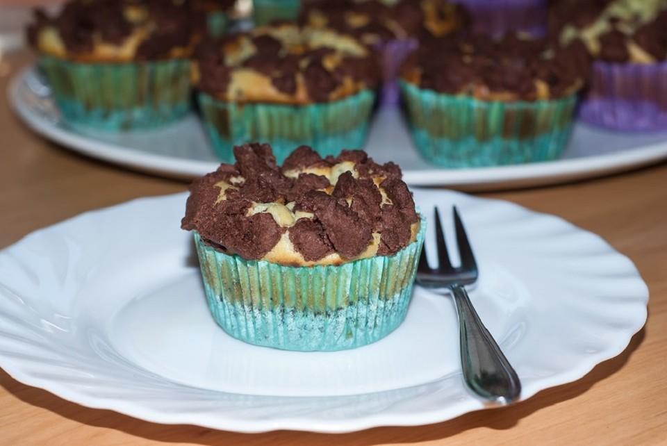 Käsekuchenmuffins mit einem Hauch Minze (Rezept mit Bild ...