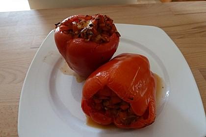 Gefüllte Paprika mit Hähnchen 8