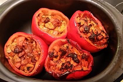 Gefüllte Paprika mit Hähnchen 7