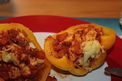 Gefüllte Paprika mit Hähnchen