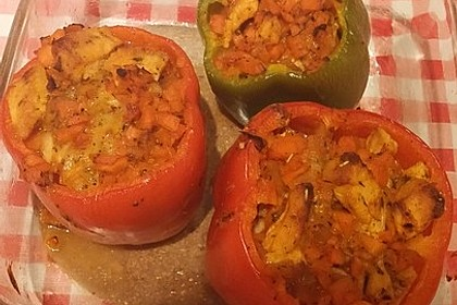 Gefüllte Paprika mit Hähnchen 17