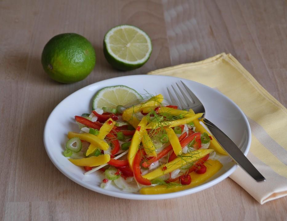 fenchel paprika mango salat rezept mit bild von ars vivendi. Black Bedroom Furniture Sets. Home Design Ideas