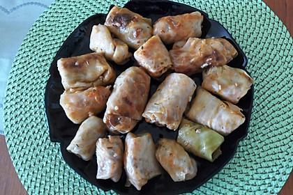 Türkischer Weißkohl mit Hackfleisch und Reis Füllung 1