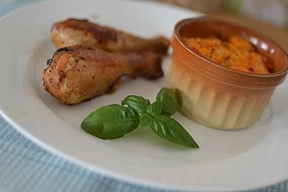Ofen-Hähnchen-Keulen mit Süßkartoffeln 8