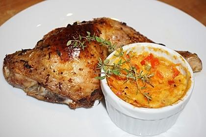 Ofen-Hähnchen-Keulen mit Süßkartoffeln 9