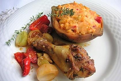 Ofen-Hähnchen-Keulen mit Süßkartoffeln 2