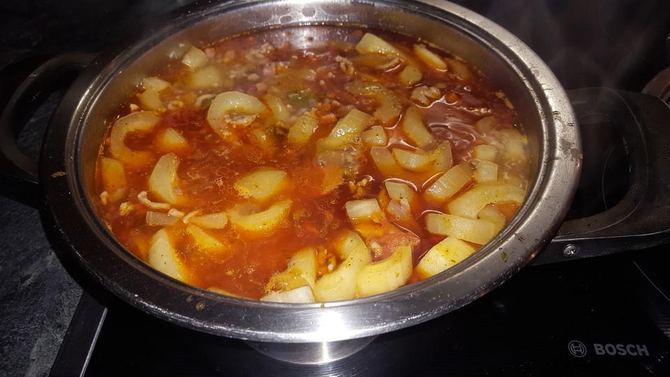 Rezept schmorgurken mit hackfleisch
