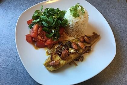 Fisch mit Honig-Currypaste