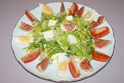 Feigensalat mit Mozzarella