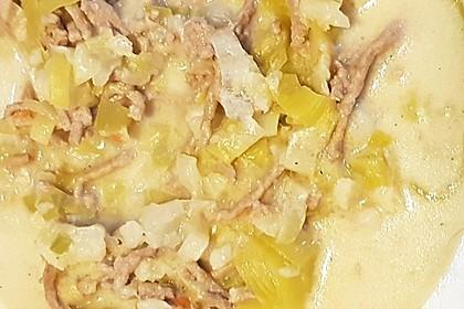 Low Carb vegetarische Käse-Lauch-Blumenkohl Suppe 1