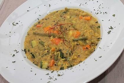 Curry mit Kürbis und Linsen 1
