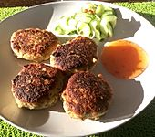Hühnerfrikadellen thailändisch
