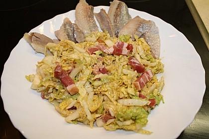 Chinakohlsalat mit Matjes