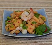 Melonen-Shrimps-Salat mit Erdnüssen