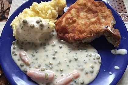 Andis Kotelett mit Mischgemüse und Stampfkartoffeln - für die Hüfte