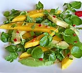Mango-Avocado-Salat mit Brunnenkresse
