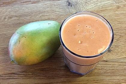 Mango-Himbeer-Kokos-Smoothie