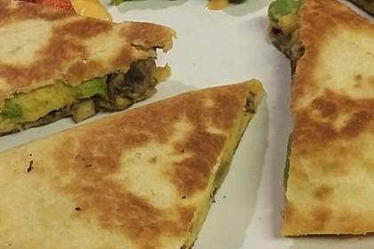 Vegane Süßkartoffel Quesadillas 2