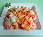 Nudelauflauf Tomate-Mozzarella (Bild)