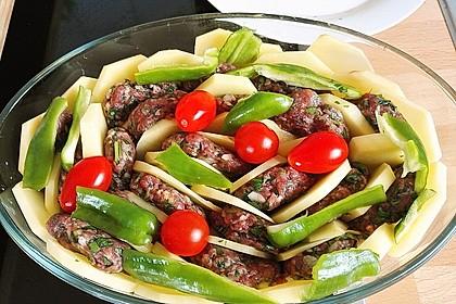 Frikadellen-Kebab aus dem Ofen 2